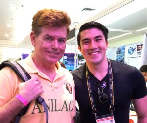 "Posing for a photo with Philippines movie star and underwater photographer, Luis ""Lucky"" Manzano."